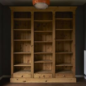 Solid Oak Wood Bookcase