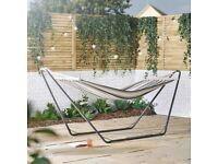 VONHAUS HAMMOCK WITH FREE STANDING METAL FRAME - BRAND NEW IN BOXES - ONLY £35