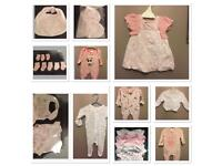 Newborn/first size baby girls clothes