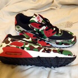 Brand new Nike air max 90s, limited edition camo style. Size 9