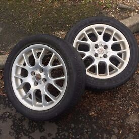 MG wheels with tyres