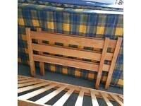 Spare single bed, easily reassembled with 2 mattresses
