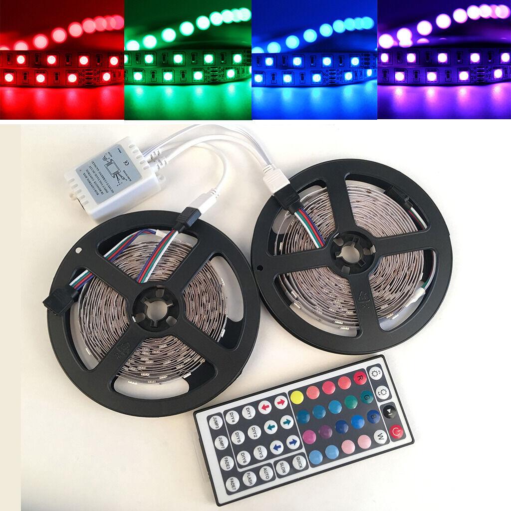 5050 RGB LED Strip Decorative Light Tape Ribbon with 44keys