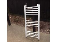 Thermostatic Electric Towel Rail in white.