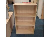 Beech effect 3 shelf contraplan bookcase