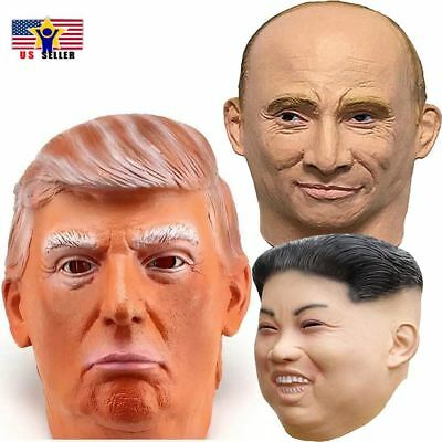 Trump Putin Kim Jong Un - North Korea Costume Rubber Latex Leader Mask Halloween](Halloween Korea)
