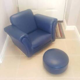Child's chair and footstool