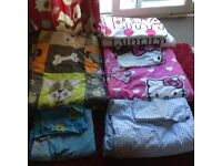 TWO QUILT SETS AND COVERS FOR SINGLE BEDS
