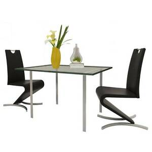 Black Artificial Leather Cantilever Chair with H-shaped(SKU24129) Mount Kuring-gai Hornsby Area Preview