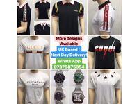 Gucci Tshirts Givenchy T Shirts Armani t-shirts Philip Plein Designer tops clothing london cheap UK
