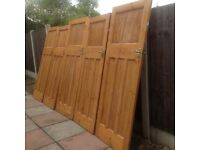 Edwardian 1930's pitch pine internal doors 5 available