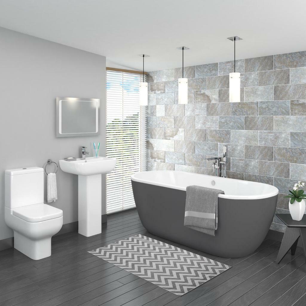 gray bathroom walls - 1000×1000