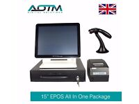 "Complete 15"" Touch Screen EPOS POS System, Cash Till, EPOS Software, Printer, Retail (E103-W15PKT1)"