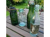 collection of old jars and bottles