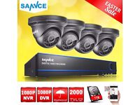 SANNCE 4CH 1080P HD DVR Security CCTV Camera System Night Vision HDMI 24IR 1TB