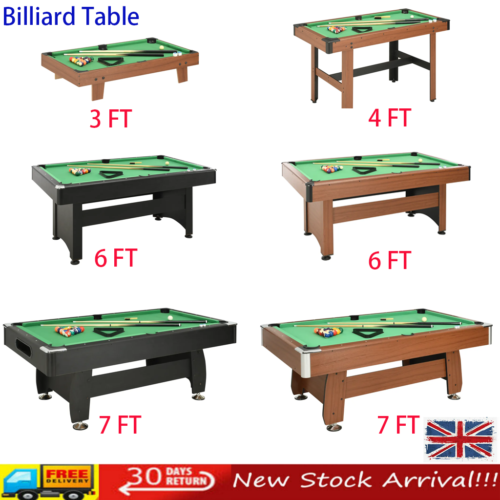 3/4/6/7 FT Pool Billiard Table Playing Snooker Tabletop Indoor Sports Game New