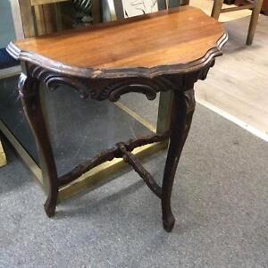Carved Half Moon Table