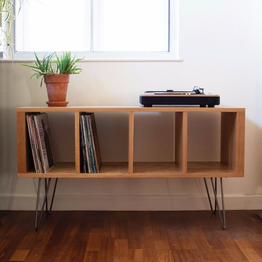 Vinyl Storage Record Player Stand Tv Stand Great Quality Solid Oak