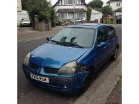 Renault Clio Mk2 Dci Diesel SPARES OR REPAIRS needs transporting