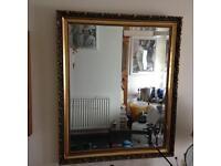 Large vintage gold mirror