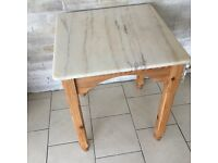 Vintage MARBLE top square table