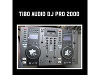 TIBO AUDIO PRO DJ 2000 Q Twin Top CD Decks Player Mobile DJ Disco With iPod Dock Mixer USB MP3 2