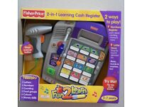 NEW Fisher price 2-in-1 Learning Cash Register