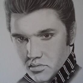 Portrait elvis presley A3