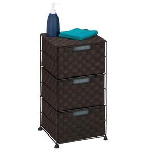 New Honey-Can-Do OFC-03714 Double Woven 3-Drawer Storage Organizer Chest, Espresso Brown, PICKUP ONLY - DI6