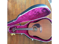 Lovely Canadian cedar guitar, fitted pickup & flight case, Art & Lutherie £220