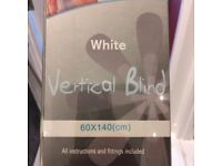 VERTICAL BLINDS 140cm long brand new in box
