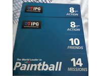 IPG DELTA FORCE PAINTBALLING TICKETS VOUCHERS + FREE PAINTBALLS - ANY CENTRE ACROSS UK