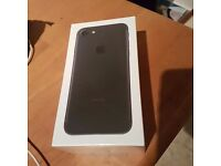 Iphone 7. 32gb black. Brand new in unopened box with receipt. Locked to EE