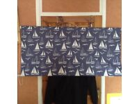 2 - Nearly New Navy Blue Nautical Blinds