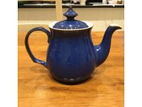 Denby Imperial Blue Tea Pot, Milk Jug, Sugar Bowl, Butter Dish, Gravy Boat & Egg Cups