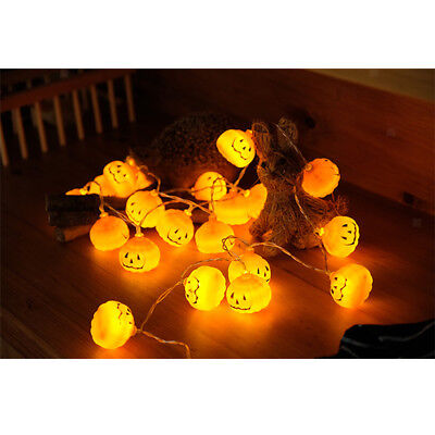 Kürbis Design LED Lichterkette Batteriebetrieben String Light Halloween