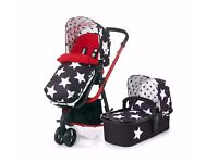 i am selling a cossotto carry cot for a pram or just a baby holder. Brand new!