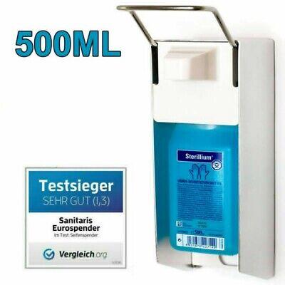 Desinfektionsmittelspender 500ML Wand Eurospender Seifenspender Edelstahl Griff