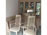 Table, Chairs & Sideboard display Cabinet