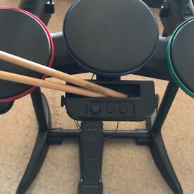 Wii Band Hero Drum Kit and Game
