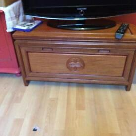 Vintage Solid Chinese Rosewood TV Unit