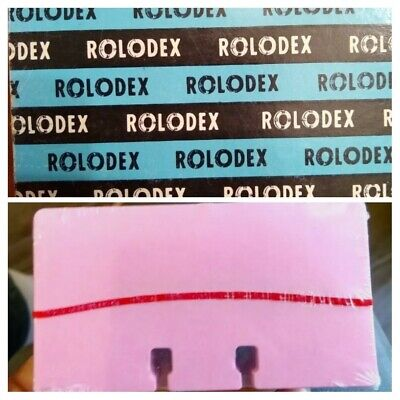 New Old Stock Rolodex Refill Cards Pink 1 Sealed Pack 100 Cards 2-14 X4 C24