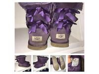 Genuine UGG Bailey bow boots size 6