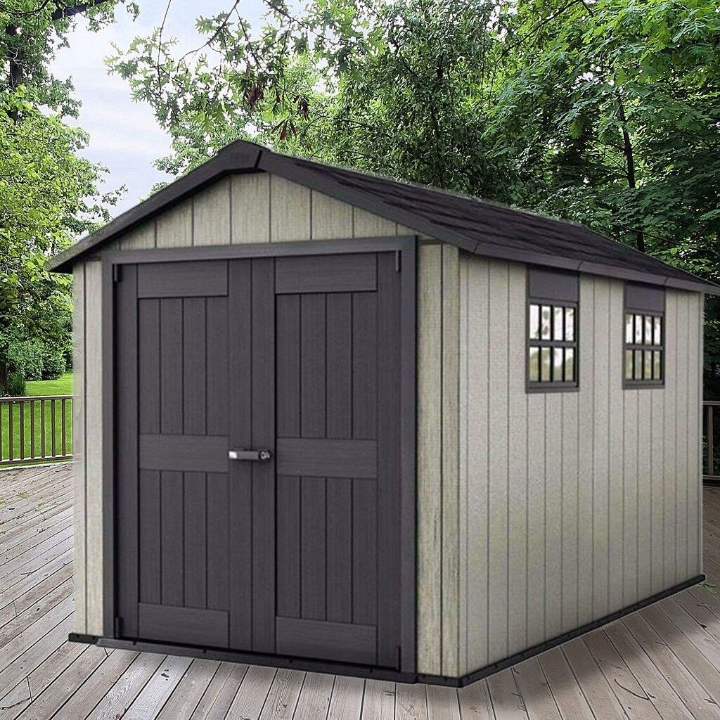 keter garden shed oakland 7511 x brand new. Black Bedroom Furniture Sets. Home Design Ideas