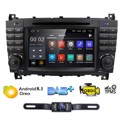 Android 9.0 Mercedes Benz C/CLC/CLK-Klasse W203 W209 Autoradio Navi DAB+ CD WiFi