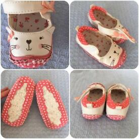Baby girl clothes and shoes bundle 6 months plus