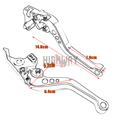 Motorcycle Short Aluminum Adjustable Clutch Brake Lever