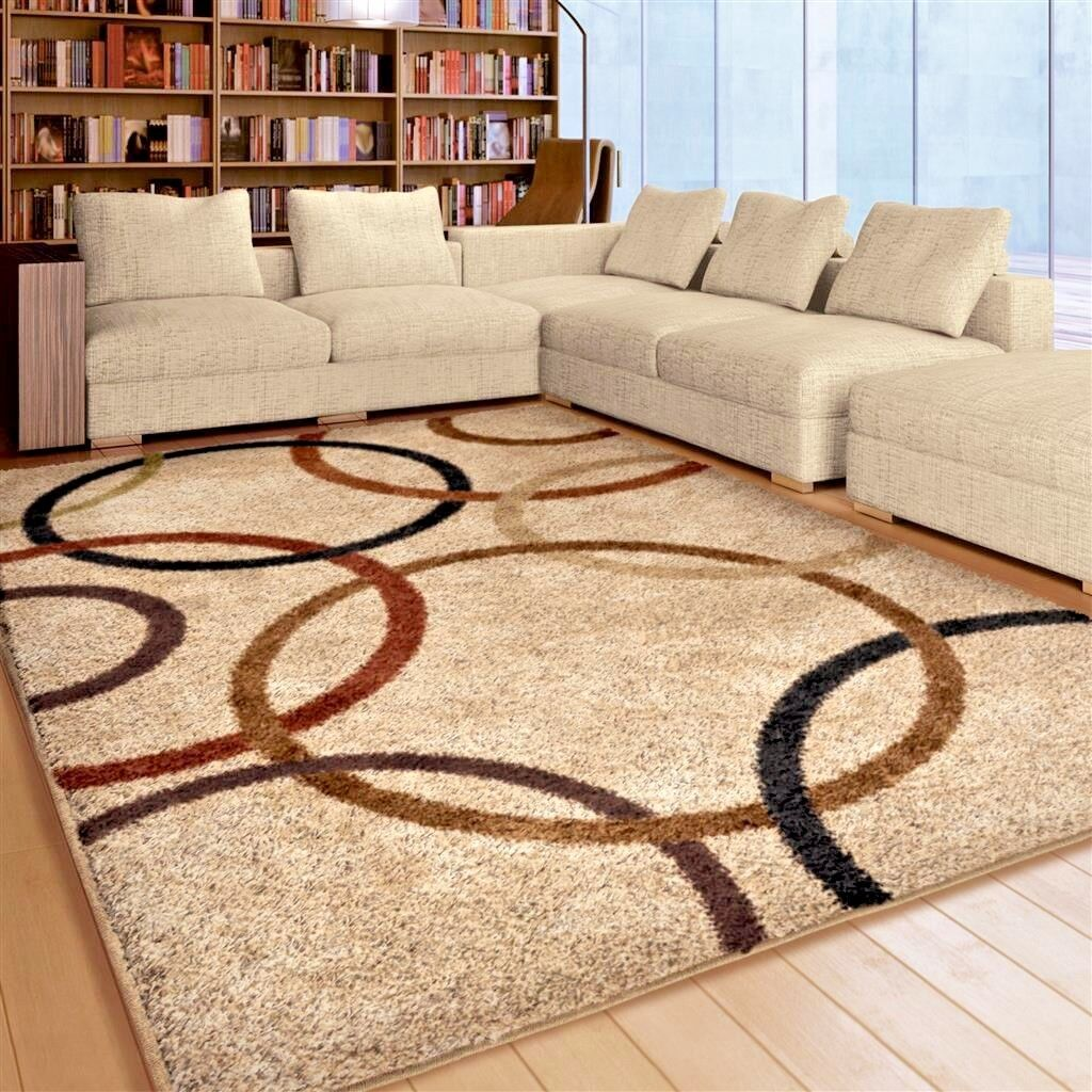 rugs area rugs 8x10 area rug carpet shag rugs living room modern large cool rugs ebay. Black Bedroom Furniture Sets. Home Design Ideas