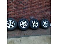 LANDROVER FREELANDER 1 ALLOY WHEELS WITH TYRES 195/80 /R