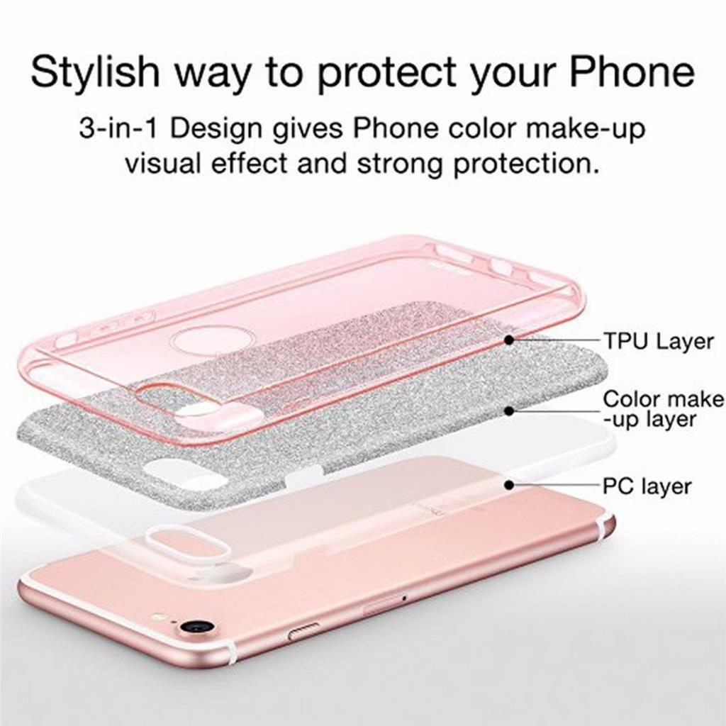 New Luxury For iPhone 7  7Plus Ultra Thin Crystal Bling Glitter Hard Cover Case